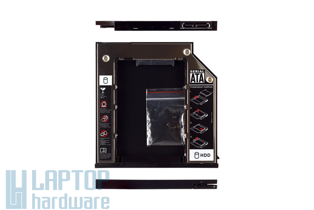 Dell Latitude E6400, E6410, E6510 Winchester beépítő keret 9.5mm-es DVD meghajtó helyére