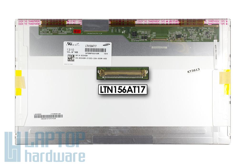 Gyári új matt 15.6'' HD (1366x768) LED laptop kijelző (csatlakozó: 40 pin - bal)