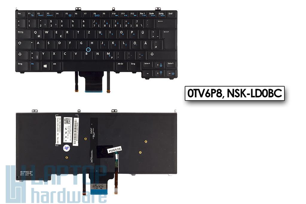 Dell Latitude E7440 gyári új német LED háttér-világításos laptop billentyűzet, 0TV6P8