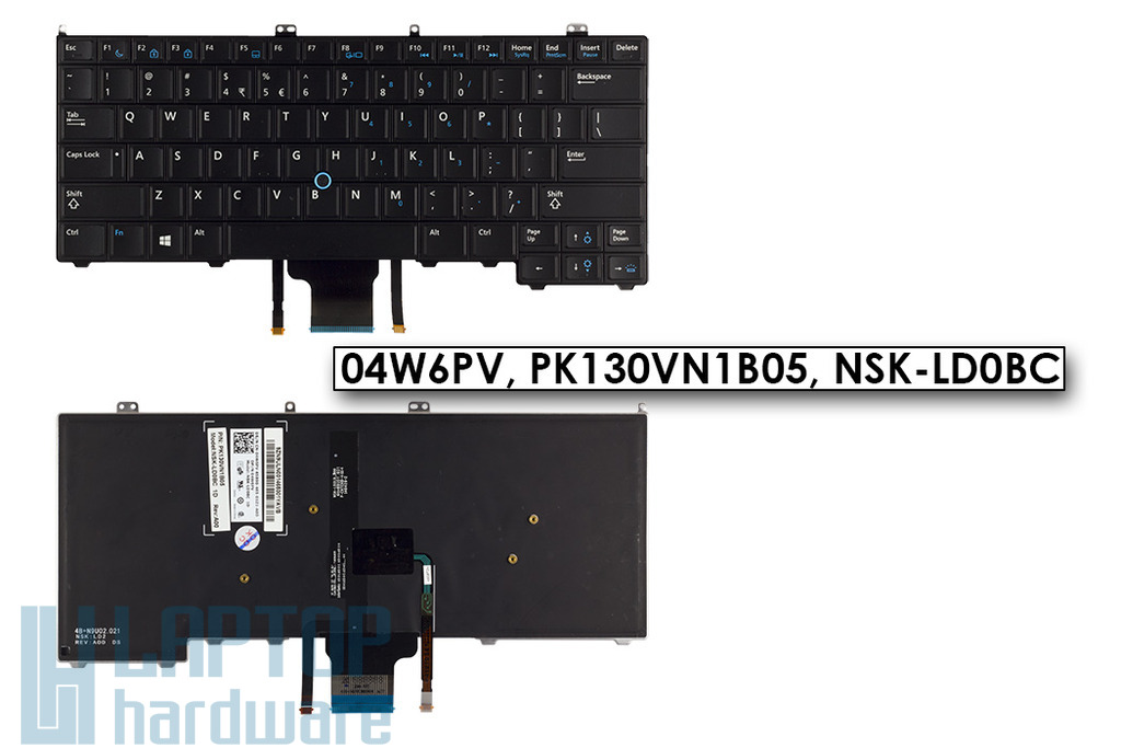 Dell Latitude E7440 gyári új US angol LED háttér-világításos laptop billentyűzet, 04W6PV