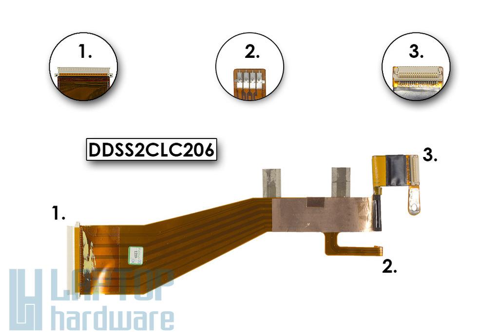 Dell Latitude L400 laptophoz használt LCD kábel (DDSS2CLC206)