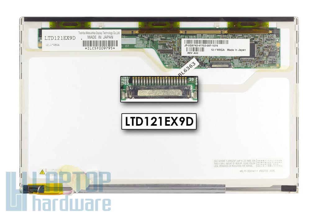 Dell Latitude X1 gyári új matt laptop kijelző, LTD121EX9D