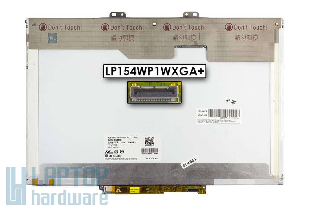Dell LG LP154WP1-TLA2 WXGA+ LCD 15,4-inch használt fényes laptop kijelző