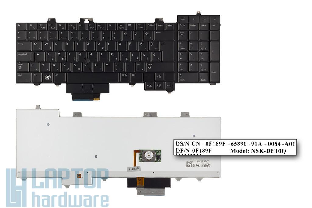 Dell Precision M6400, M6500 gyári új magyar fekete laptop billentyűzet (0F189F)
