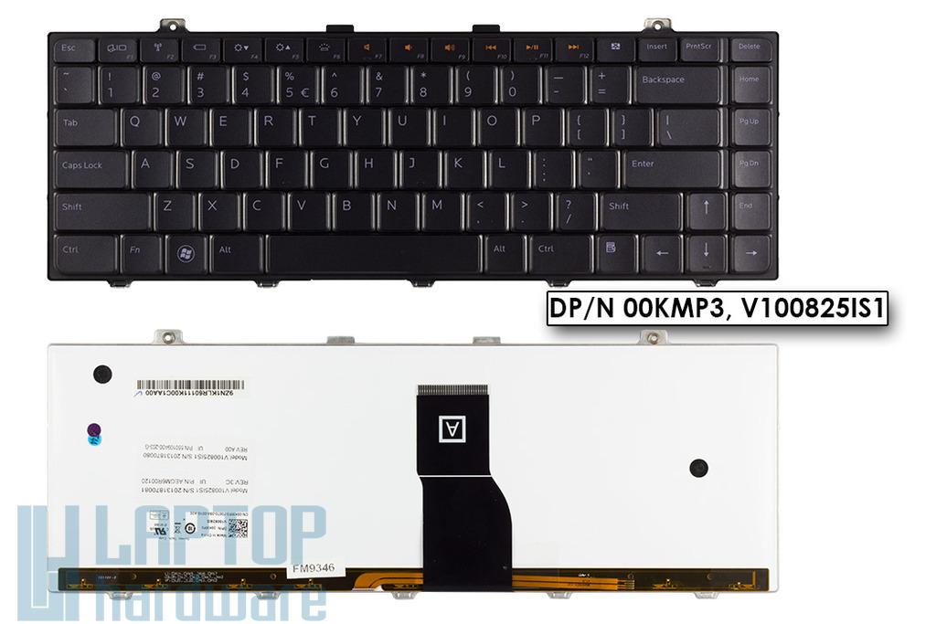 Dell Studio 1450, XPS L401, L501 használt US angol háttér-világításos laptop billentyűzet (DPN 00KMP3, V100825IS1)