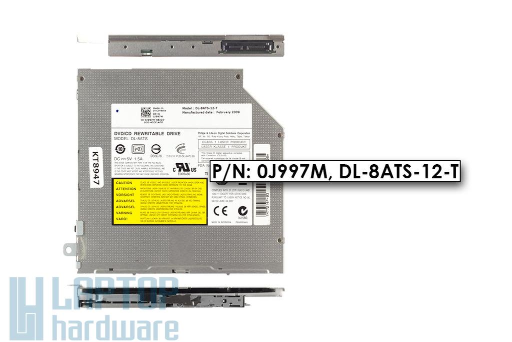 Dell Studio 1457, 1555, 1537, 1557, 1737 használt Slot In SATA DVD író, 0J997M