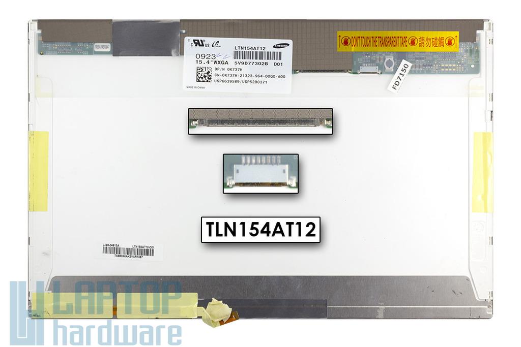 Dell Studio 1535, 1536, 1537 használt notebook kijelző LTN154AT12, 0K737H