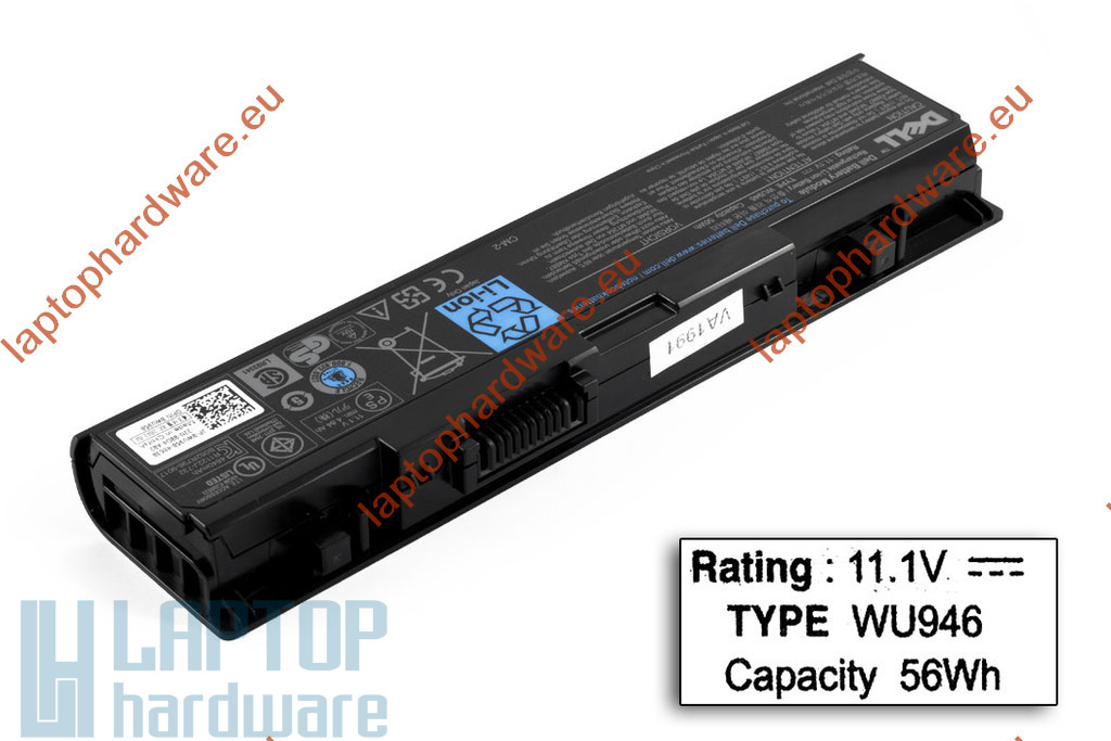Dell Studio 1535, 1536, 1537 6 cellás használt 55%-os laptop akku/akkumulátor (WU946)