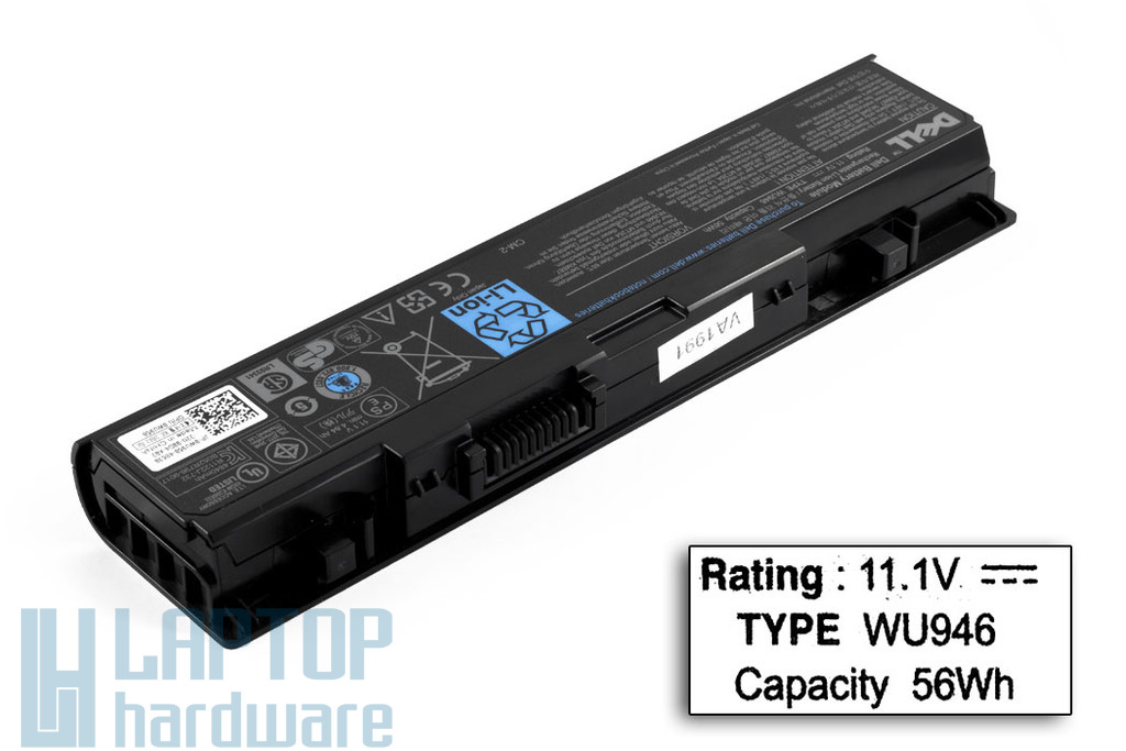 Dell Studio 1535, 1536, 1537 gyári új 6 cellás laptop akku/akkumulátor  TYPE WU946, WU960