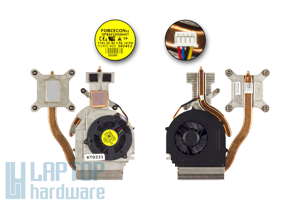 Dell Studio 1557, 1558 gyári új komplett hűtő ventilátor egység diszkrét VGA-s gépekhez (RGF24)