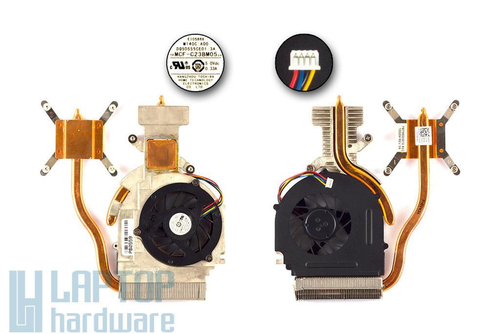 Dell Studio 1557, 1558 használt komplett hűtő ventilátor egység 02X6C1 MCF-C23BM05
