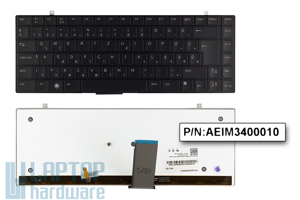 Dell Studio XPS 1340, 1640, 1645, 1647 gyári új magyar háttér-világításos laptop billentyűzet (0T078D)