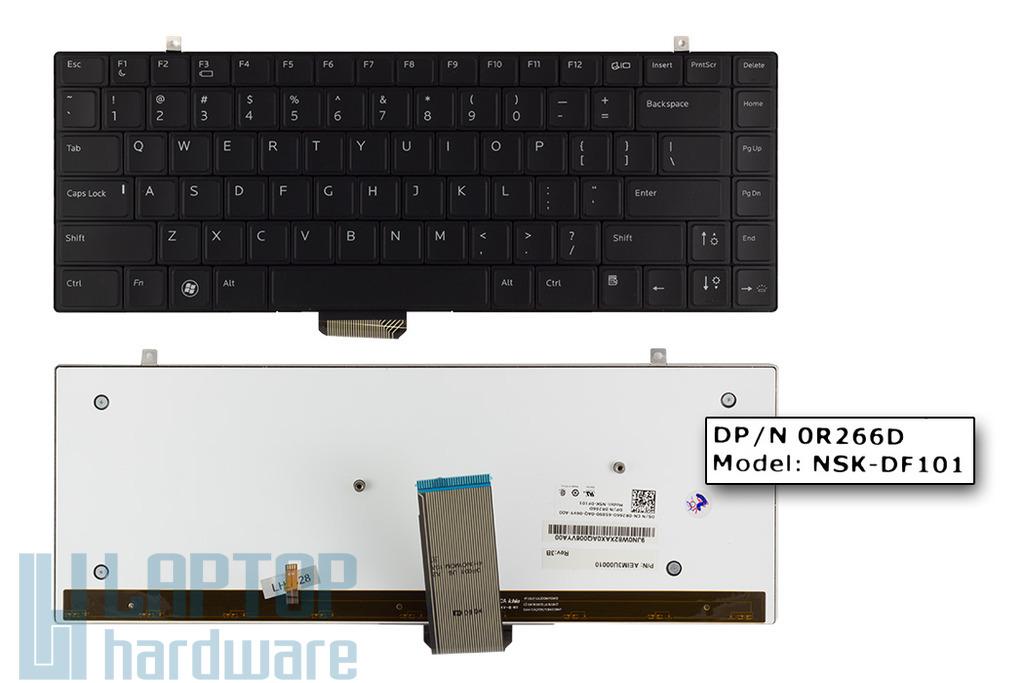 Dell Studio XPS 1340, 1640, 1645, 1647 gyári új US angol LED háttér-világításos laptop billentyűzet (0R266D)