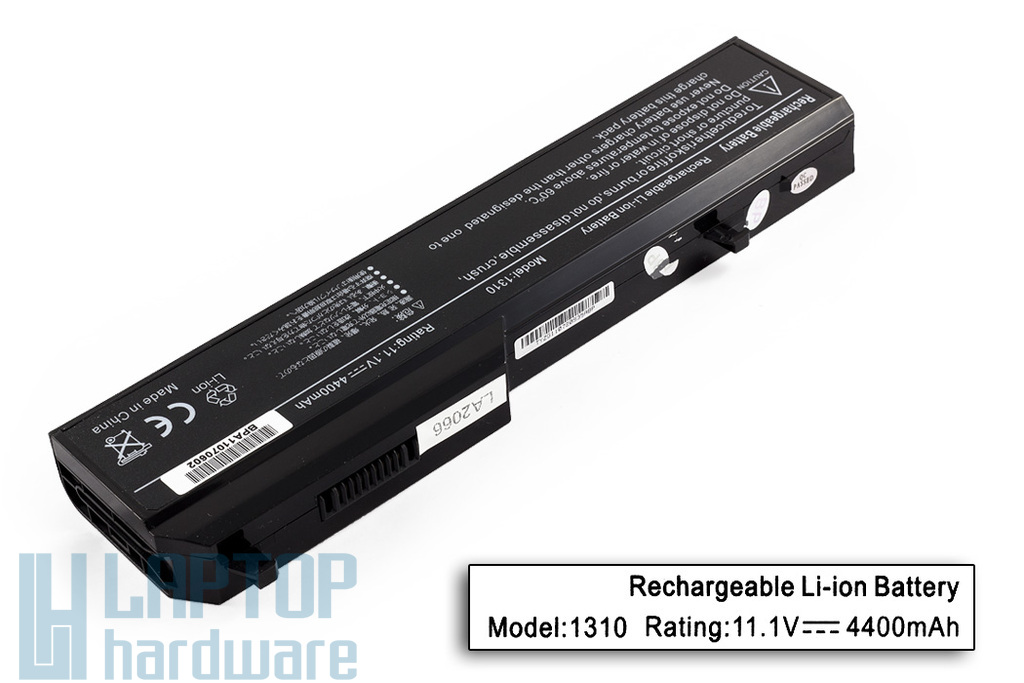 Dell Vostro 1310, 1520, 2510 helyettesítő új 6 cellás laptop akku/akkumulátor (0D769K)