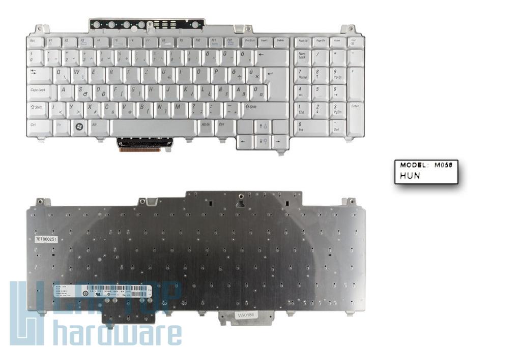 Dell Vostro 1700, Inspiron 1720, 1721 gyári új magyar ezüst laptop billentyűzet (0FP636)