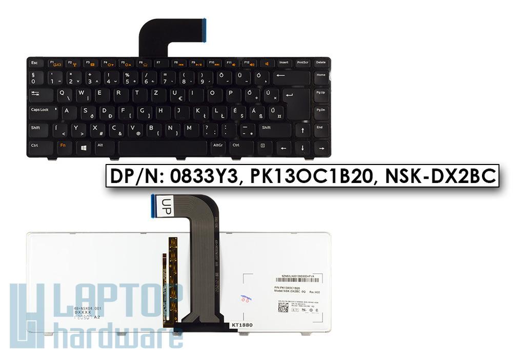 Dell Vostro 3350, 3540, 3550, 3555, Inspiron N4110 gyári új magyar háttér-világításos laptop billentyűzet (0833Y3)