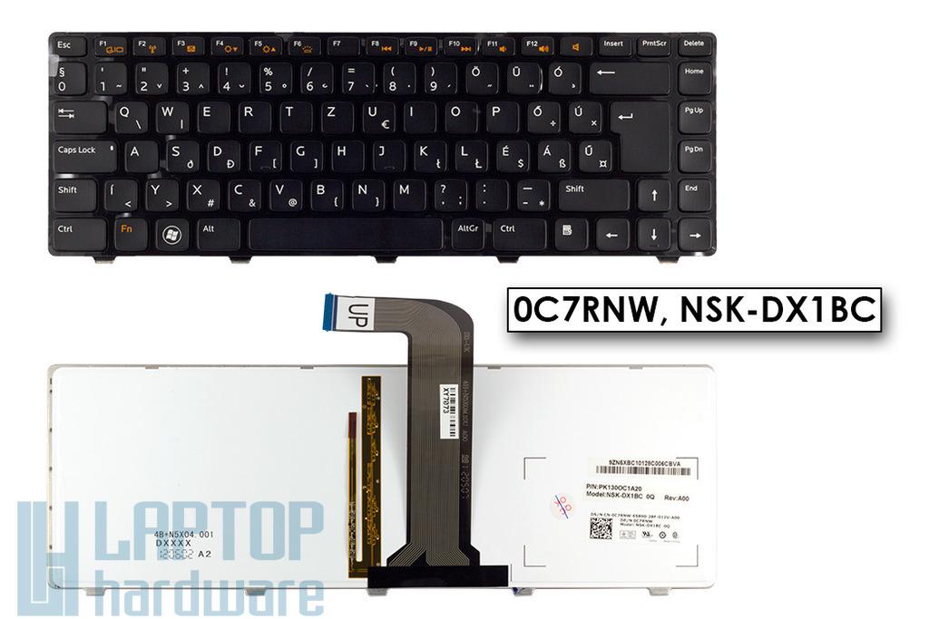 Dell Vostro 3350, 3550, Inspiron N4110, XPS L502 gyári új magyar háttér-világításos laptop billentyűzet (0C7RNW)