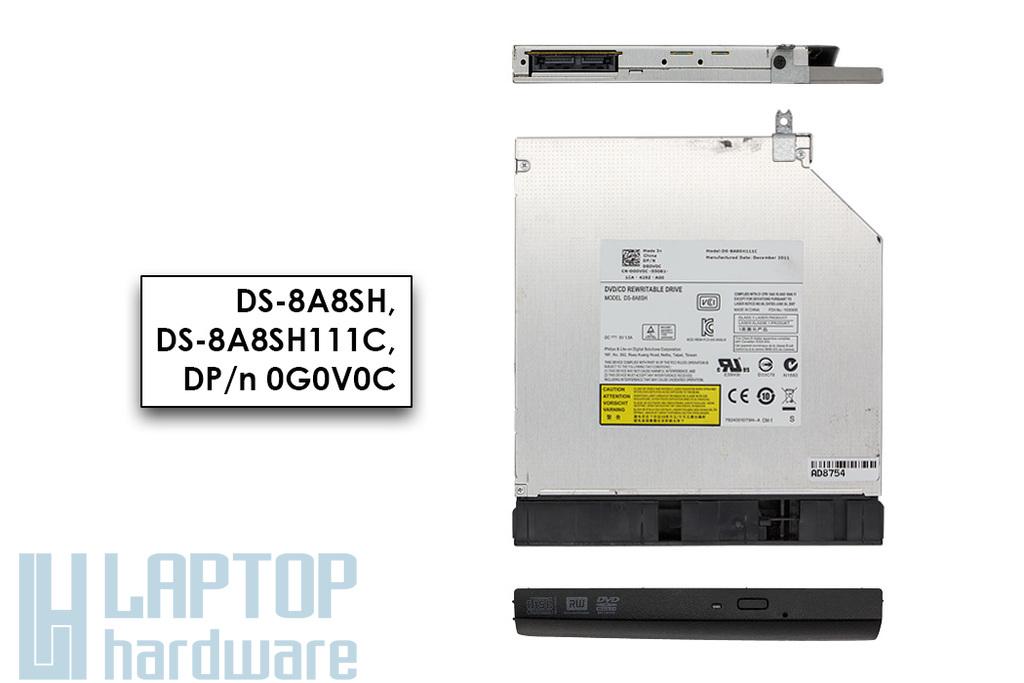 Dell Vostro 3550 Inspiron N5110 használt SATA laptop DVD író előlappal (DS-8A8SH, DP/n 0G0V0C)