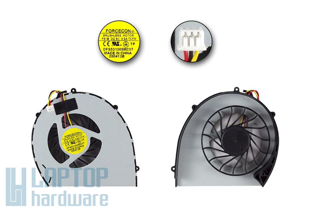 Dell Vostro 3700 gyári új laptop hűtő ventilátor, DFS531005MC0T