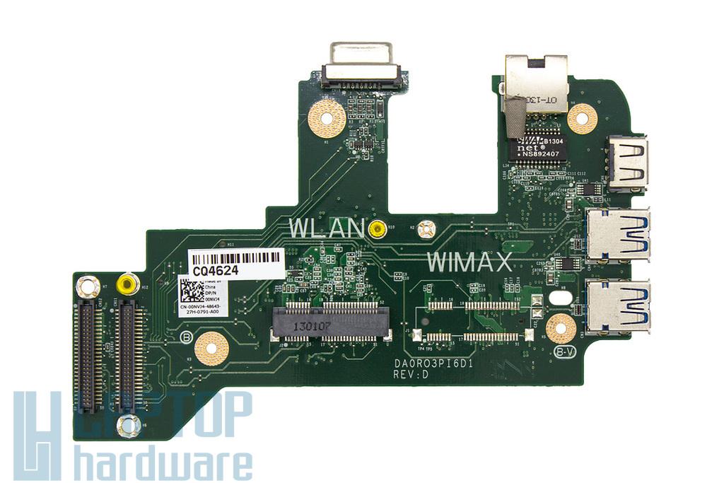 Dell Vostro 3750 gyári új laptop USB/VGA/LAN/WLAN panel (00NVJ4, 0NVJ4)