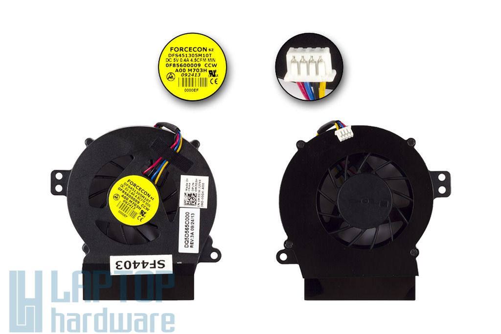 Dell Vostro A840, A860 gyári új hűtő ventilátor, M703H