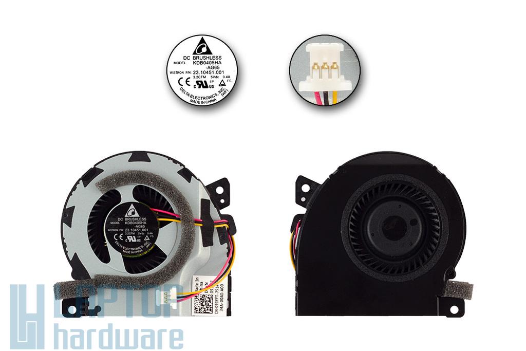 Dell Vostro V130 gyári új laptop hűtő ventilátor (093YFT, KDB0405HA-AG65)