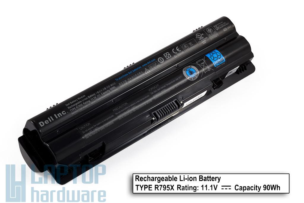 Dell XPS 14, 15, L502, 17 gyári új 9 cellás laptop akku/akkumulátor (TYPE R795X, DPN 061YD0)