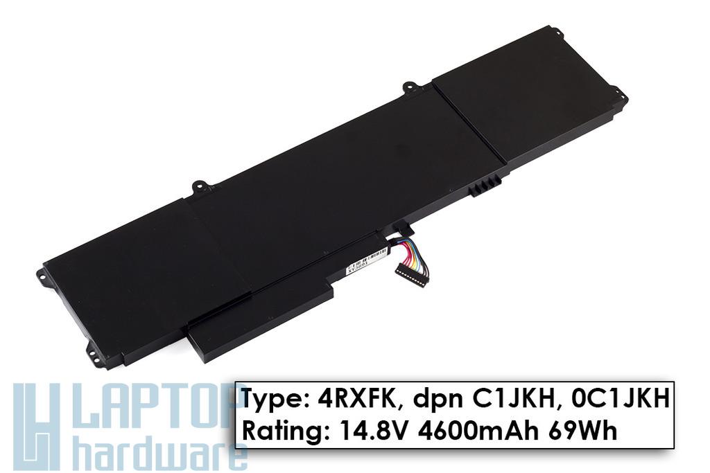 Dell XPS 14 L421x gyári új 8 cellás laptop akku/akkumulátor (4RXFK, C1JKH)