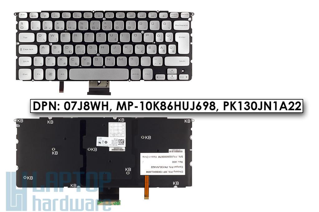 Dell XPS 14z, 15z, L412z gyári új magyar LED háttér-világításos laptop billentyűzet DPN 07J8WH