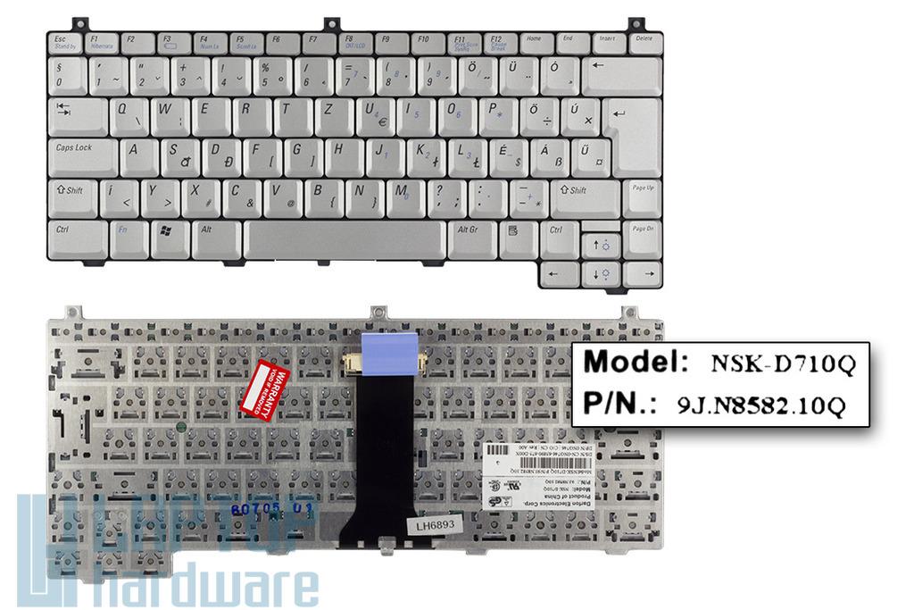Dell XPS M1210 gyári új magyar ezüst laptop billentyűzet (0NG746)