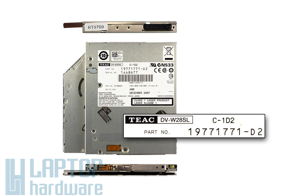 Dell XPS M1530 használt slot in IDE DVD író (0HT141)