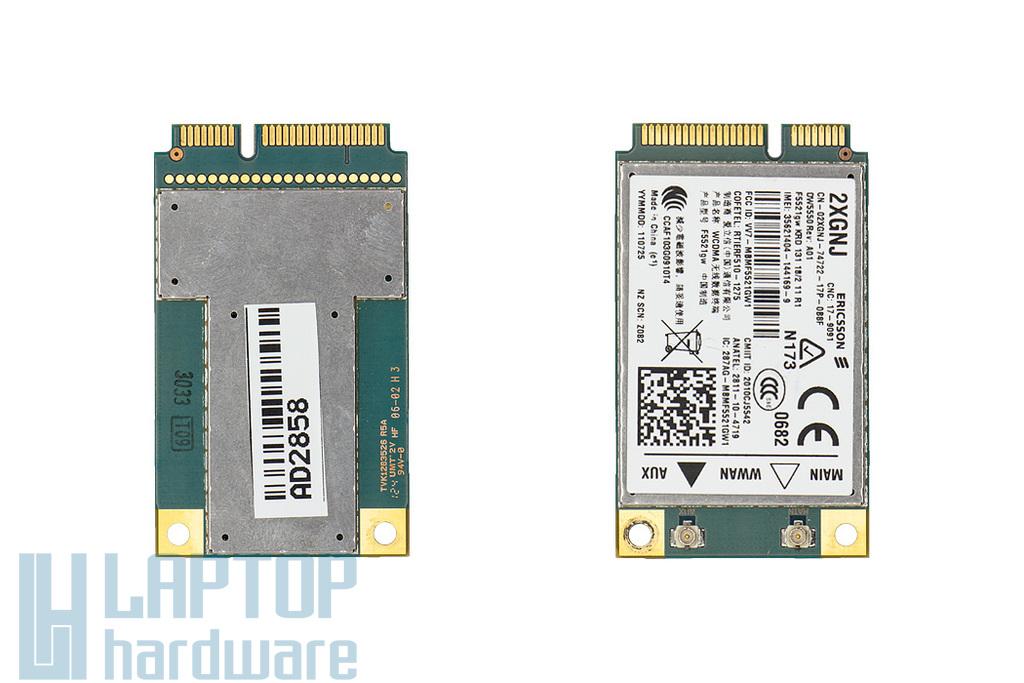 DW5550 (Ericsson F5521GW) használt 3G WWAN kártya Dell laptopokhoz (DP/n 2XGNJ)