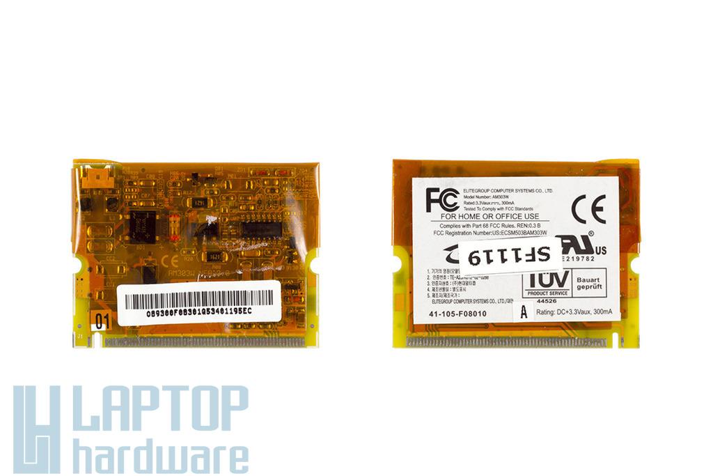 ECS Elitegroup A530 netbookhoz használt modemkártya (AM303W, 41-105-F08010)