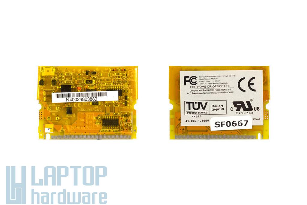 ECS G550 laptophoz használt modem kártya (AM303W VER:3.0)