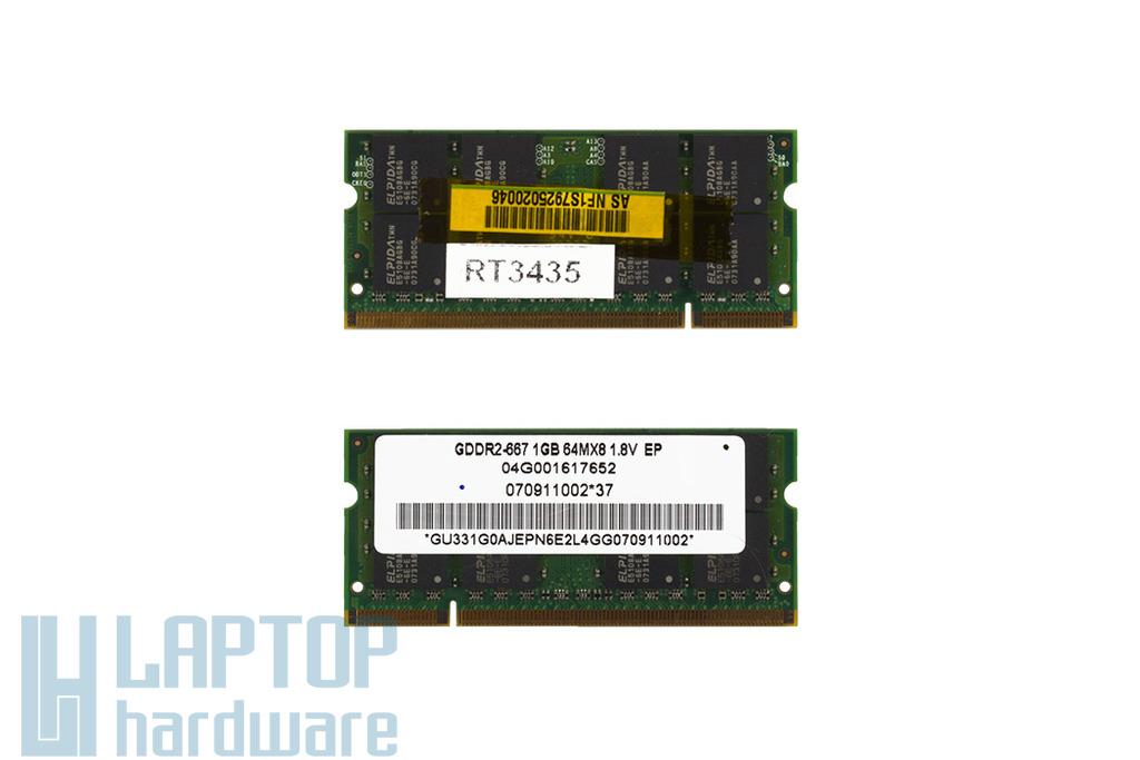 Elpida 1GB DDR2 667MHz használt laptop memória Asus laptopokhoz