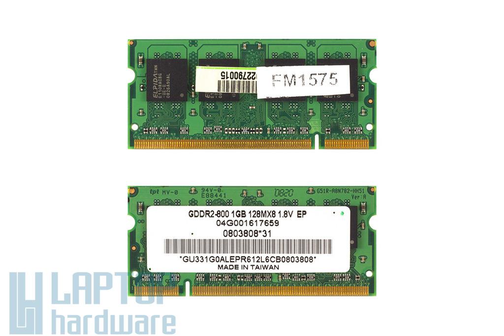 Elpida 1GB DDR2 800MHz gyári új laptop memória Asus laptopokhoz