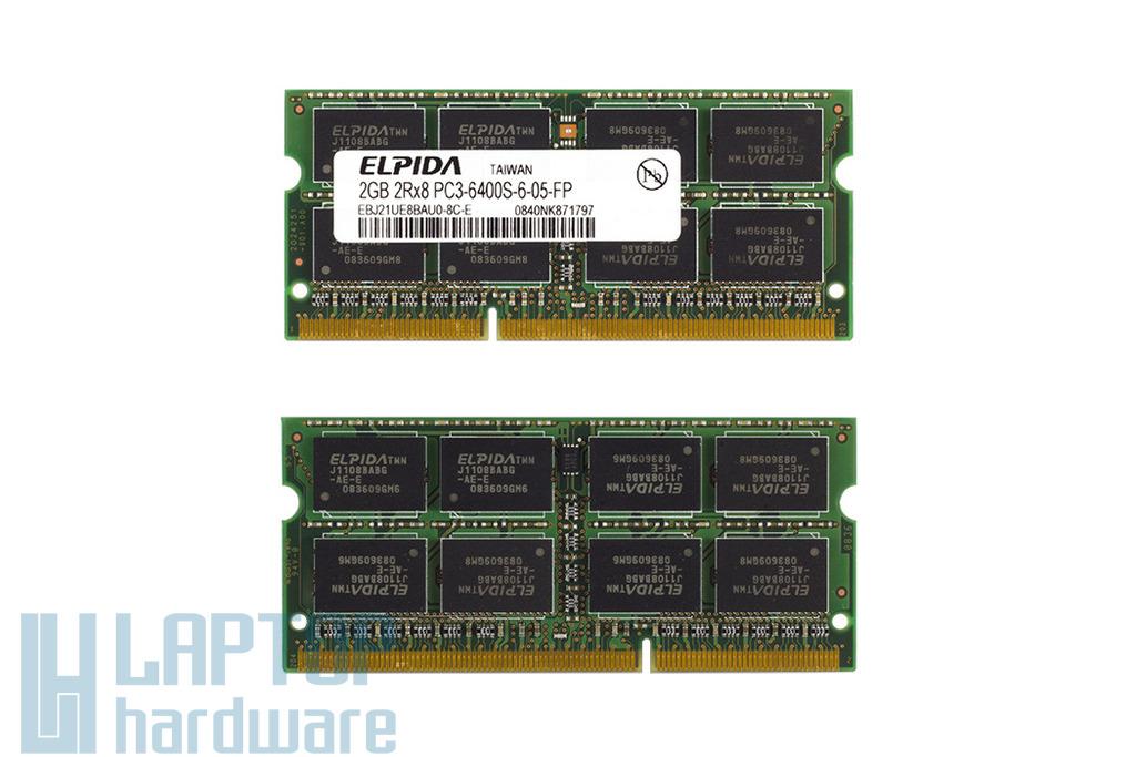 2GB DDR3 800MHz használt laptop memória