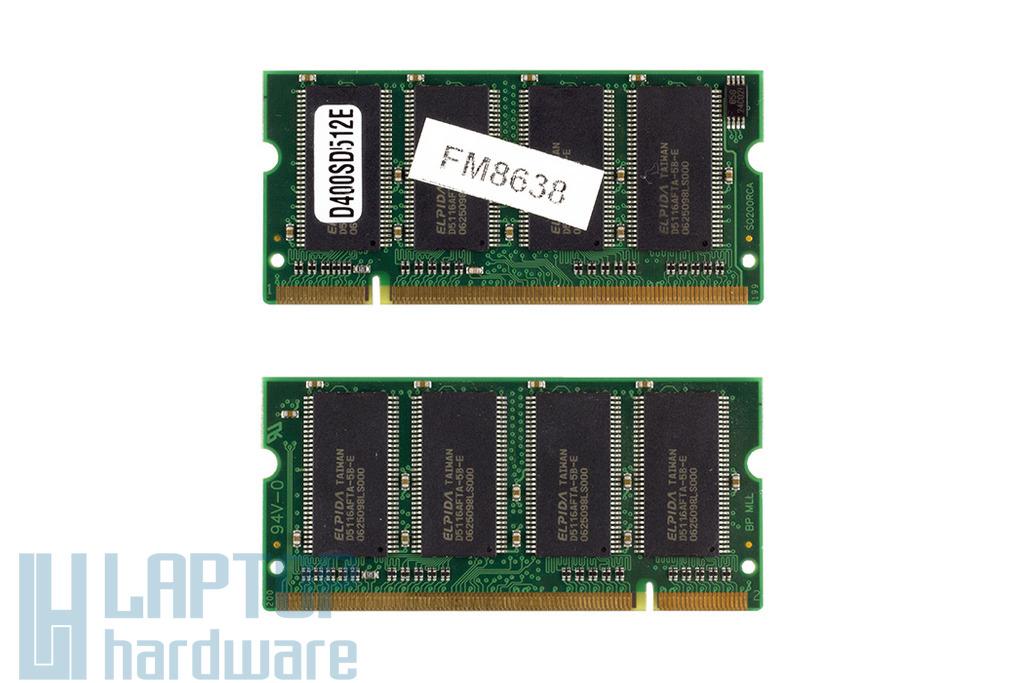 512MB DDR 400MHz használt laptop memória