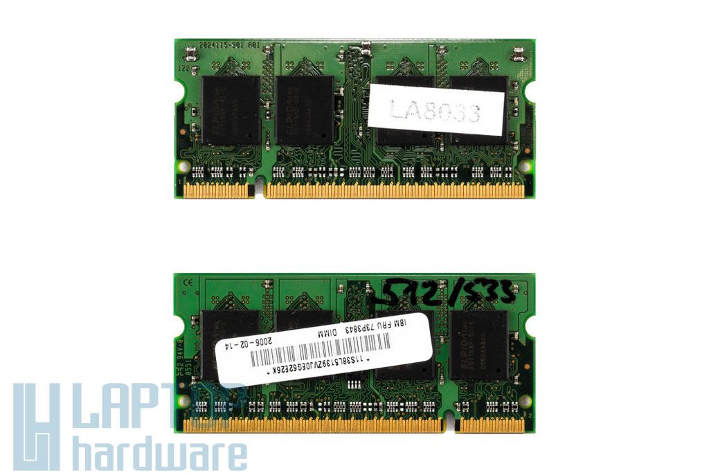 Elpida 512MB DDR2 533MHz használt memória IBM-Lenovo laptopokhoz