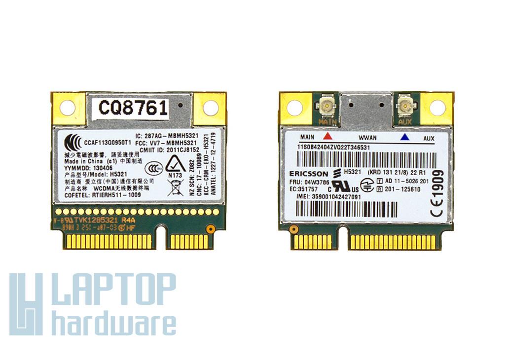 Ericsson H5321 használt WWAN (3G) kártya Lenovo ThinkPad T430, T530 laptophoz (04W3786)