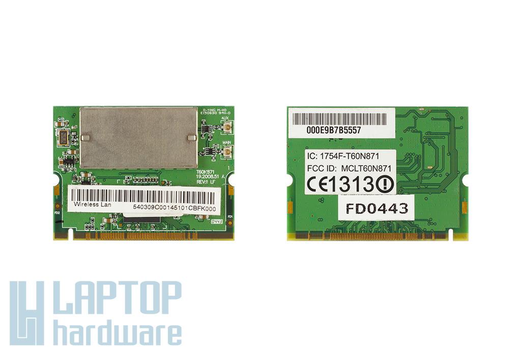 Foxconn használt Mini PCI laptop WiFi kártya (1754F-T60N871)