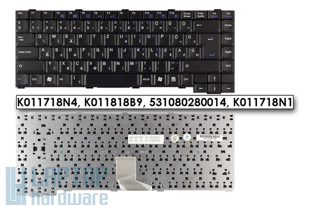 Fujitsu Amilo K7600, L1300, L7310, M1420 gyári új magyar laptop billentyűzet (K011818B5)