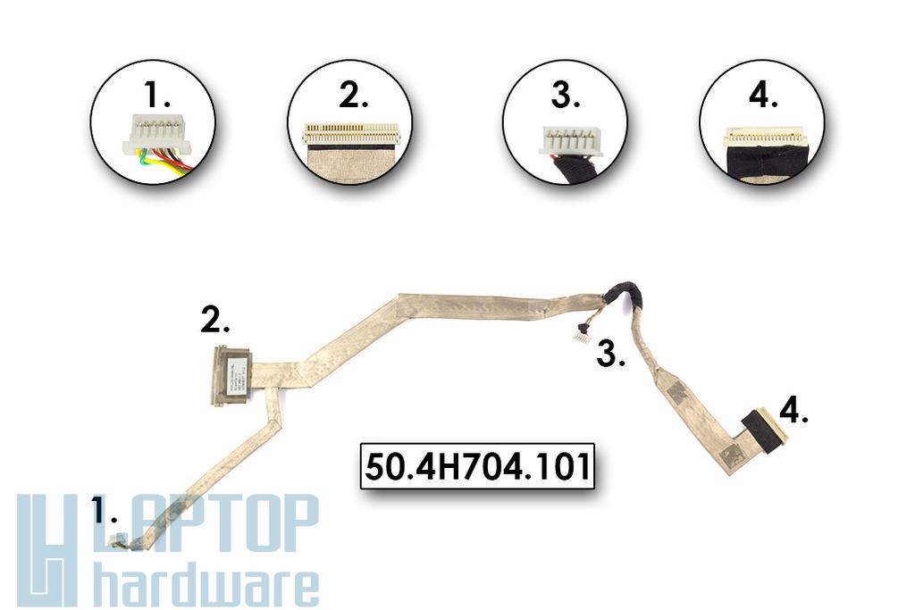 Fujitsu Amilo Pa3515, Pa3553 laptopokhoz használt LCD kábel (15.4inch) (50.4H704.101)