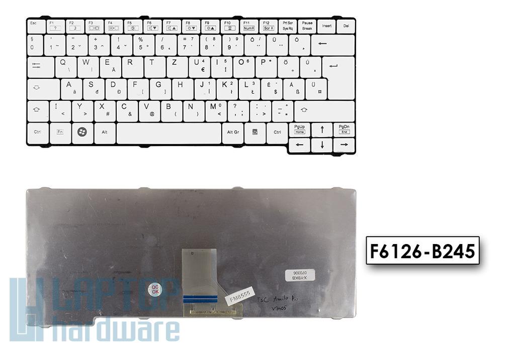 Fujitsu Amilo Pro V2000, V2040, V2045, V2060 használt magyar fehér laptop billentyűzet, F6126-B245