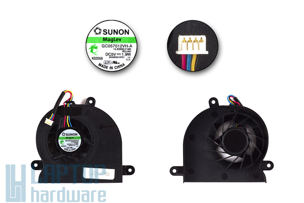 Fujitsu Esprimo V6515, V6555 használt hűtő ventilátor,GC057012VH-A