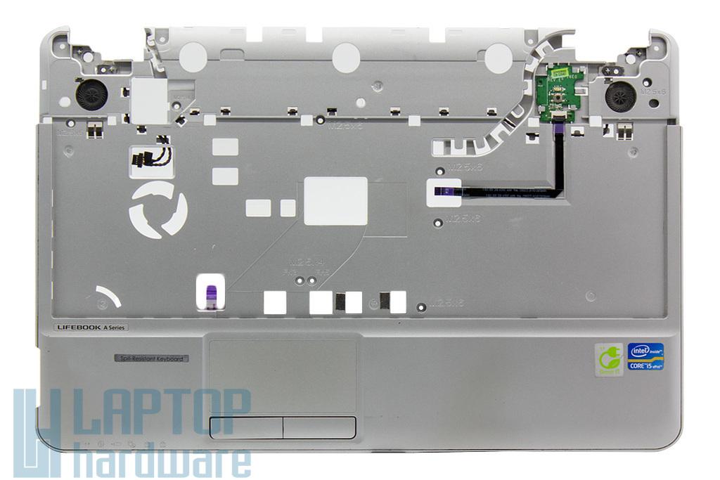 Fujitsu LifeBook A531, AH531 használt laptop felső fedél touchpaddal, bekapcsoló panellel és hangszóróval (CP515931-01)