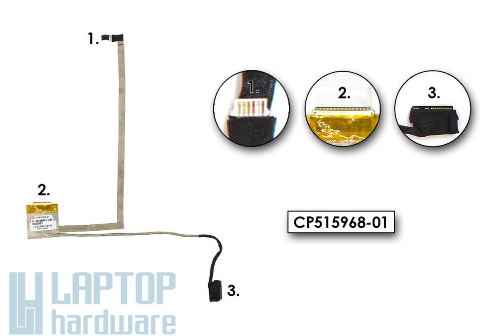 Fujitsu LifeBook AH502, AH512, AH530, AH531 használt laptop LCD kijelző kábel (CP515968-01)