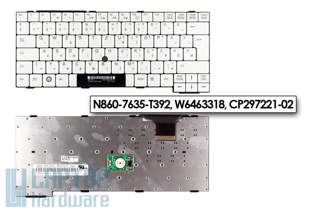 Fujitsu LifeBook C1410, E8210, S7110 gyári új magyar laptop billentyűzet (CP297221-02)