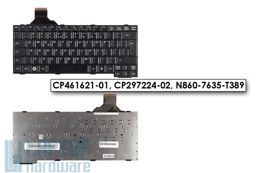 Fujitsu Lifebook E780, T5010, T730 gyári új UK angol fekete laptop billentyűzet, CP461621-01