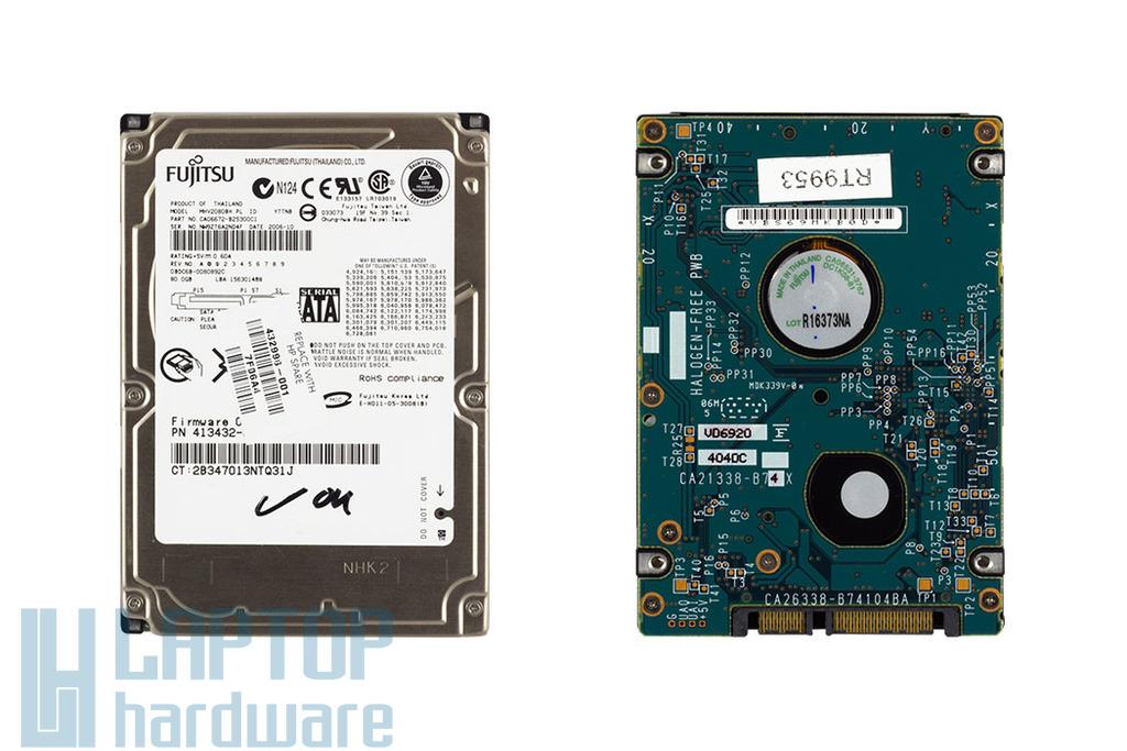 80GB SATA használt laptop winchester